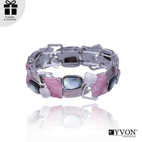 Obrázok pre výrobcu Bransoletka z metalu i muszli B03505