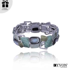 Obrázok pre výrobcu Bransoletka z metalu i muszli B03504