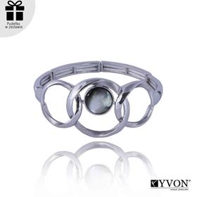 Obrázok pre výrobcu Bransoletka z metalu i muszli B03502