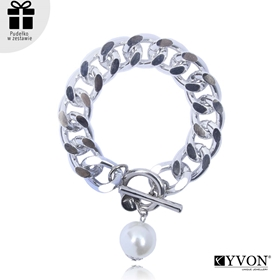 Obrázok pre výrobcu Bransoletka lancuch perla B03060