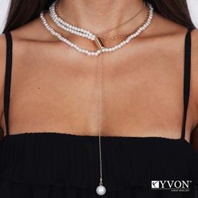Obrazek Naszyjnik lancuch perla N03055
