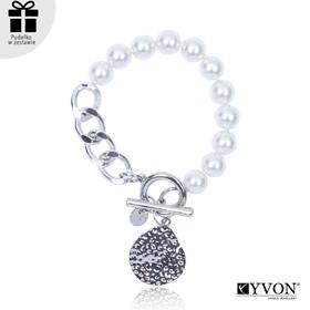 Obrázok pre výrobcu Bransoletka lancuch perla B03054