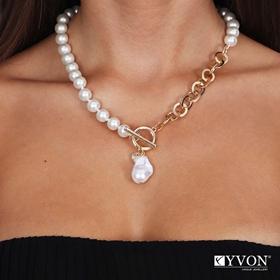 Obrazek Naszyjnik lancuch perla N03053